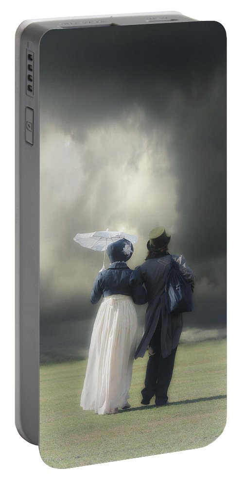 Couple Portable Battery Charger featuring the photograph Regency Couple by Joana Kruse