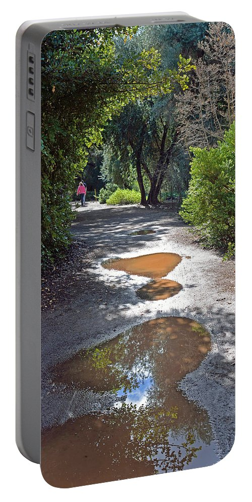 Rain Portable Battery Charger featuring the photograph Remains Of The Storm by Lorraine Harrington