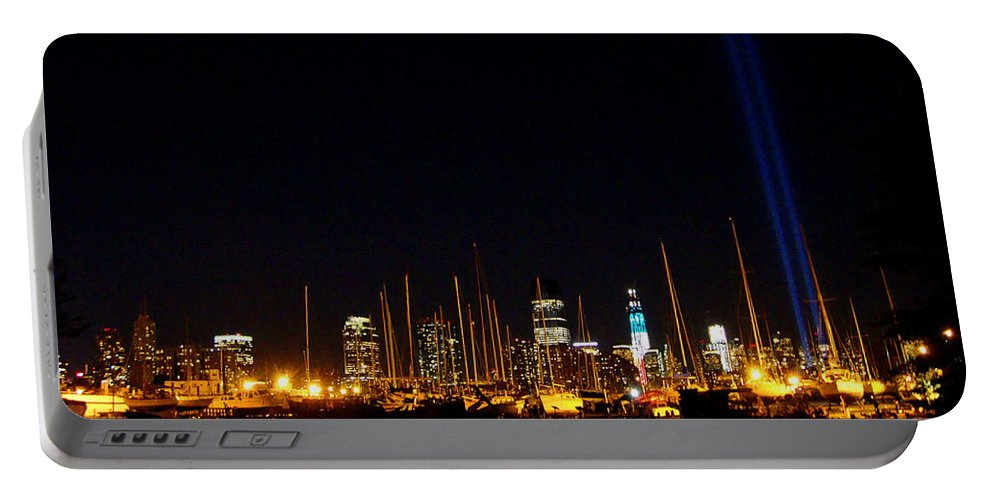 September 11th Portable Battery Charger featuring the photograph Remembrance by Cathleen Cario-Reece