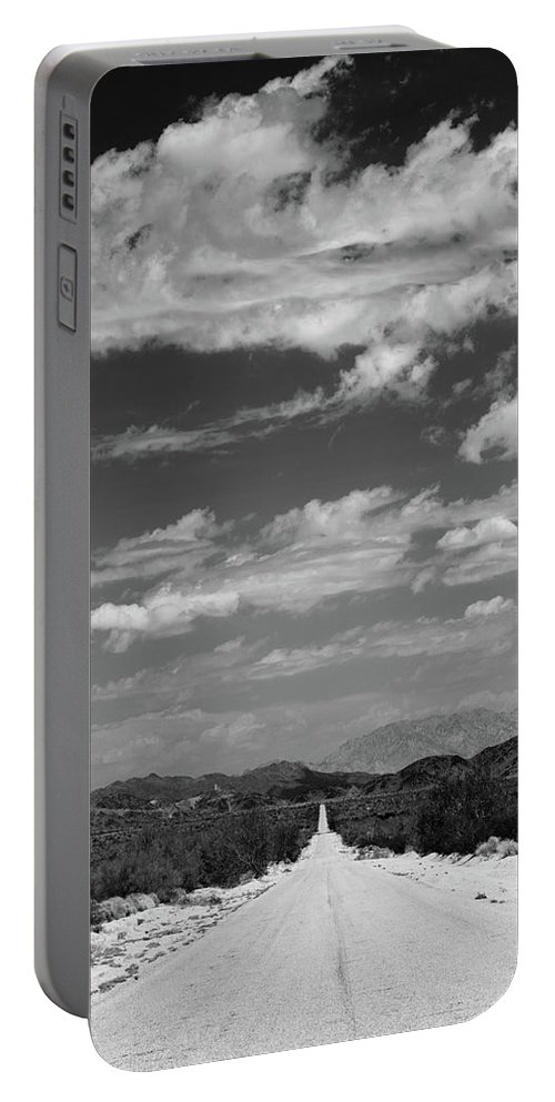 Photography Portable Battery Charger featuring the photograph Remote Desert Road To Mountains by Panoramic Images