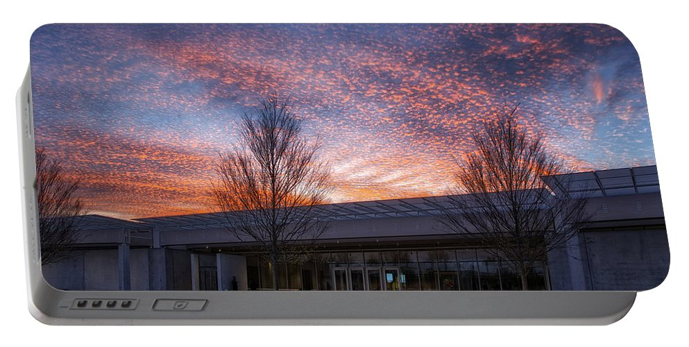 Joan Carroll Portable Battery Charger featuring the photograph Renzo Piano Pavilion by Joan Carroll