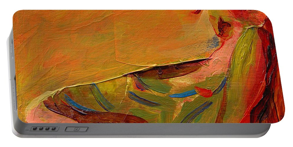 Art Portable Battery Charger featuring the painting Repose by Julianne Felton