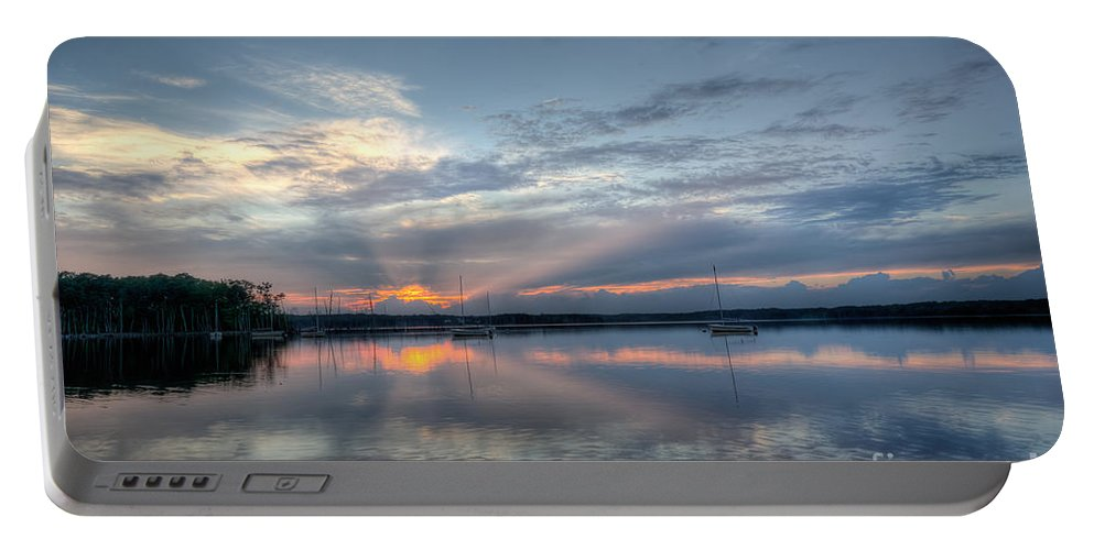 Manasquan Reservoir Portable Battery Charger featuring the photograph Reservoir Sunset by Michael Ver Sprill
