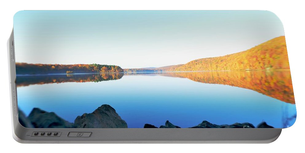 Reservoir Portable Battery Charger featuring the photograph Reservoir by D White