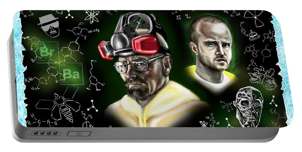 Breaking Bad Portable Battery Charger featuring the painting Respect The Chemistry by Vinny John Usuriello