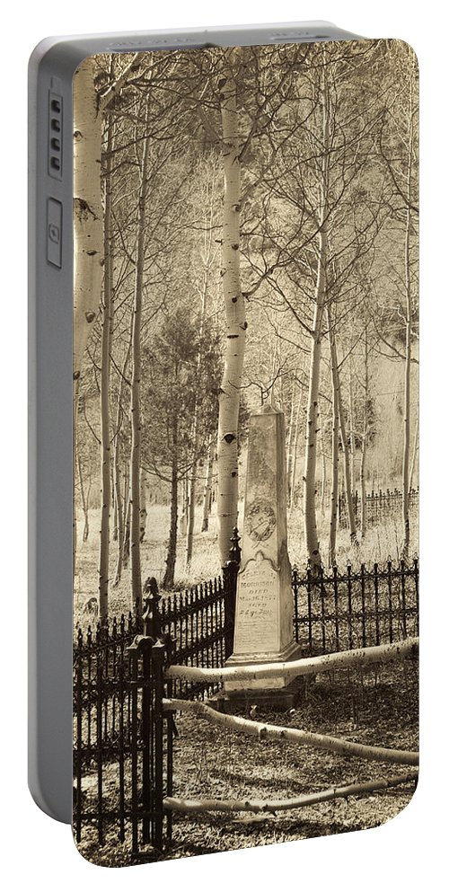 Cemetery Portable Battery Charger featuring the photograph Rest In Peace by Juli Scalzi
