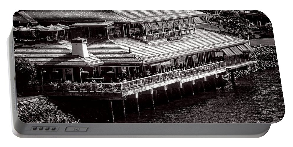 San Diego Portable Battery Charger featuring the photograph Restaurant On The Bay by Image Takers Photography LLC - Laura Morgan