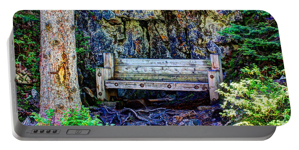 Bench Portable Battery Charger featuring the photograph Resting Place by John Lee