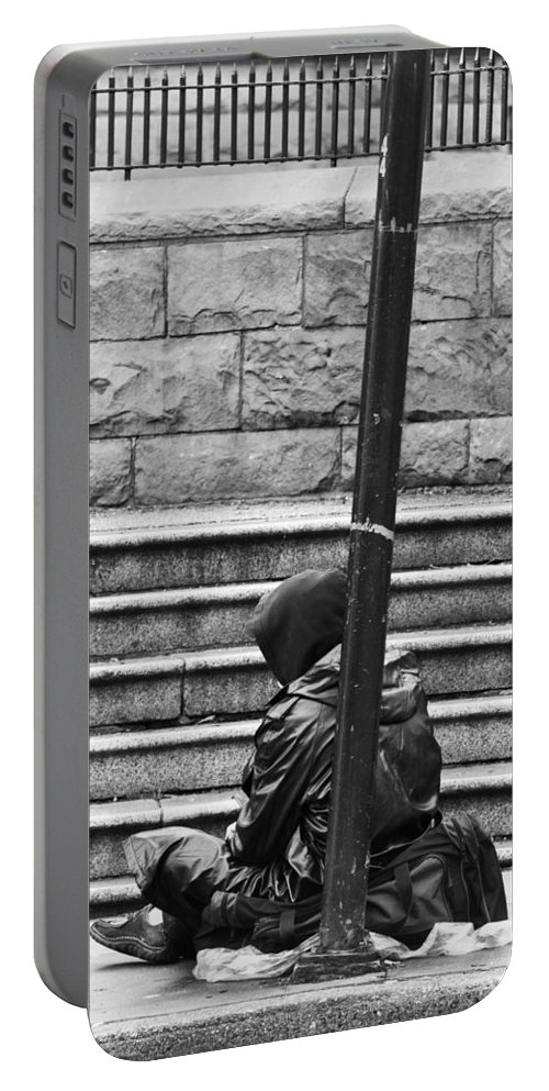 Jerry Cordeiro Portable Battery Charger featuring the photograph Resting Pole by The Artist Project