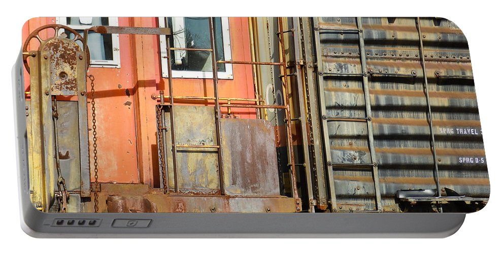 Freight Portable Battery Charger featuring the photograph Retired Railroad by Nick Kirby