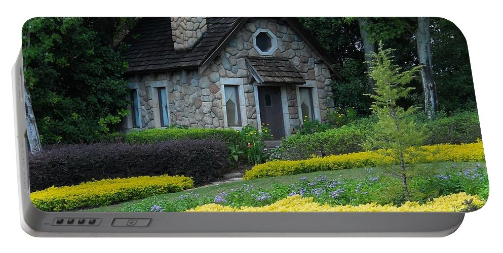 Cabin Portable Battery Charger featuring the photograph Retreat by Rachel Kaufmann