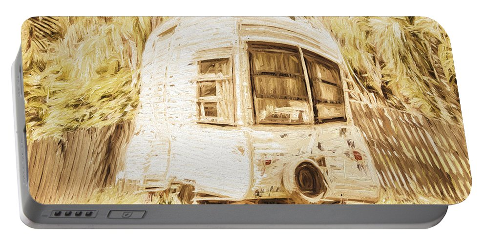 Caravan Portable Battery Charger featuring the photograph Retrod The Comic Caravan by Jorgo Photography - Wall Art Gallery