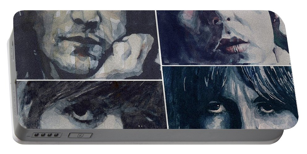 The Beatles Portable Battery Charger featuring the painting Reunion by Paul Lovering