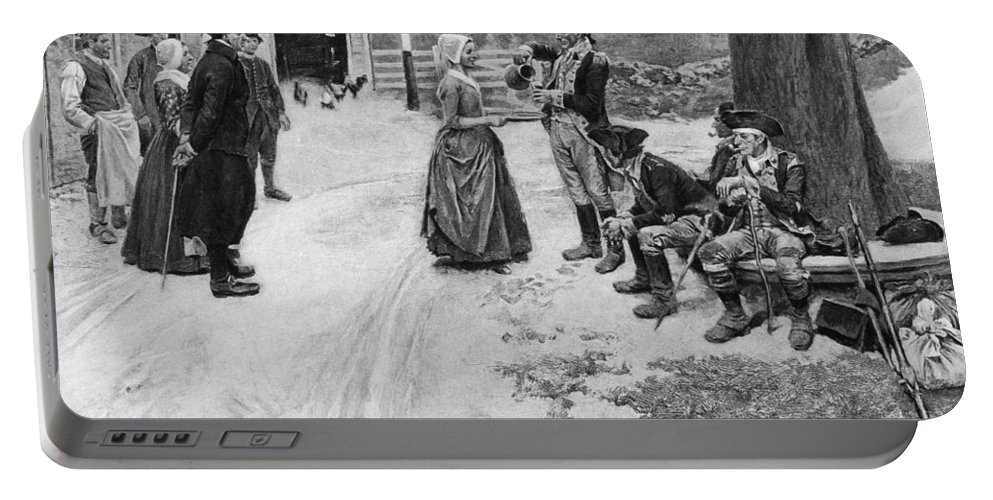1780s Portable Battery Charger featuring the photograph Revolution: Soldiers by Granger