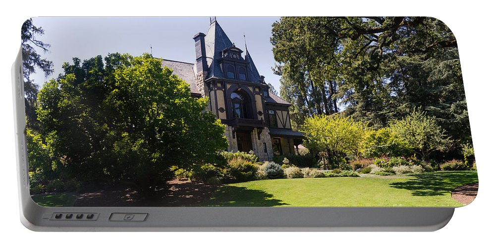 Napa Portable Battery Charger featuring the photograph Rhine House At Beringer Winery St Helena Napa California Dsc1722 by Wingsdomain Art and Photography