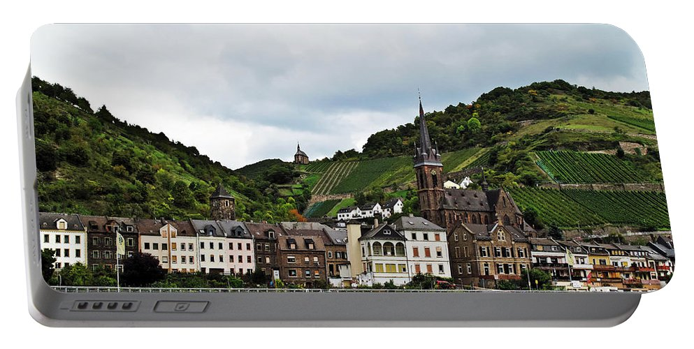 Travel Portable Battery Charger featuring the photograph Rhine River View by Elvis Vaughn