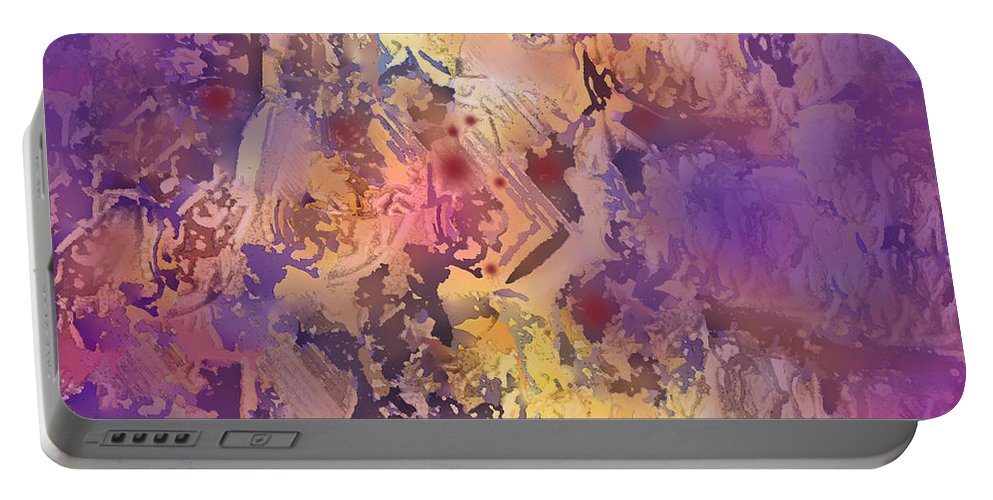 Abstract Portable Battery Charger featuring the digital art Rhumba by Ian MacDonald