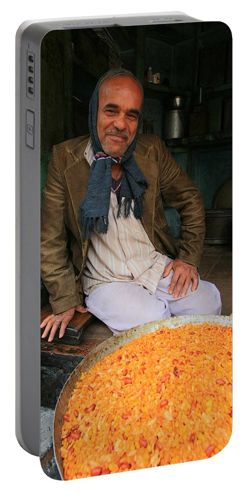 Rice Seller Portable Battery Charger featuring the photograph Rice And Bean Seller by Amanda Stadther