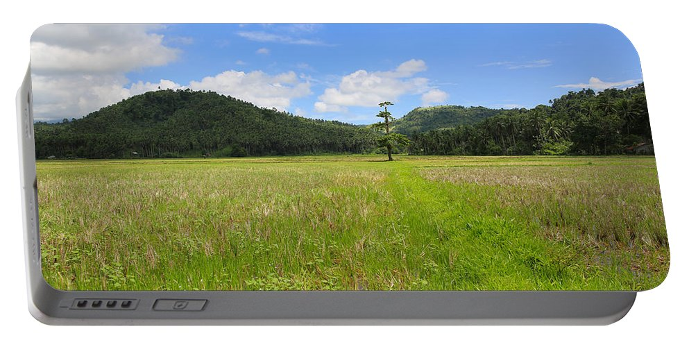 Rice Field Portable Battery Charger featuring the photograph Rice Field by Paul Ranky