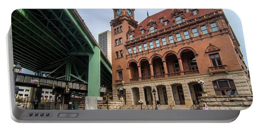 Crowded Portable Battery Charger featuring the photograph Richmond Virginia Architecture by Alex Grichenko