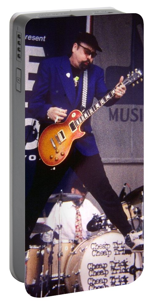 Rick Nielsen Portable Battery Charger featuring the photograph Rick Nielsen Cheap Trick by Sheryl Chapman Photography