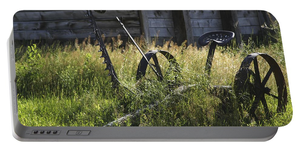 Riding Mower Portable Battery Charger featuring the photograph Riding Mower by Guy Shultz