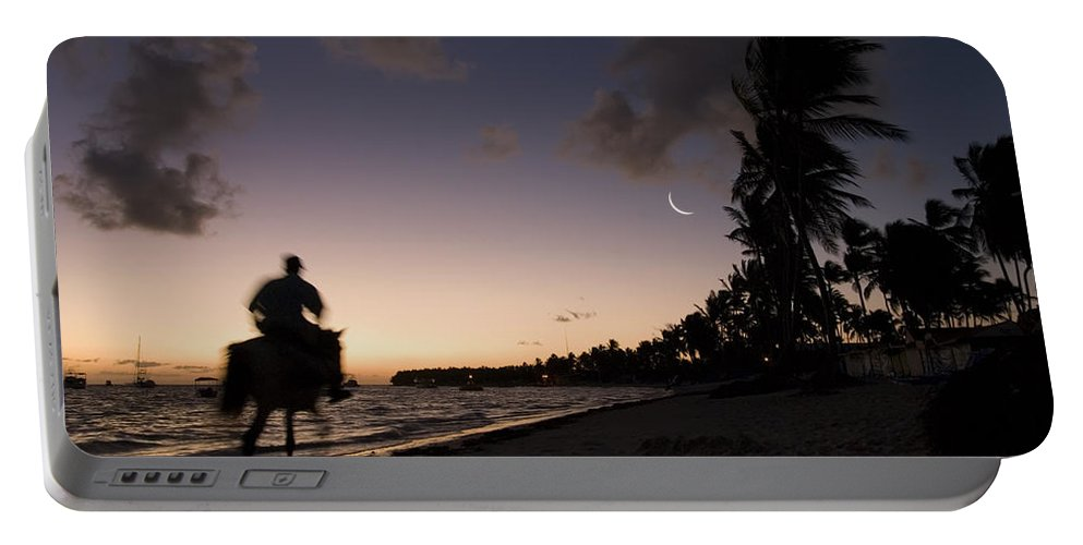 3scape Portable Battery Charger featuring the photograph Riding On The Beach by Adam Romanowicz