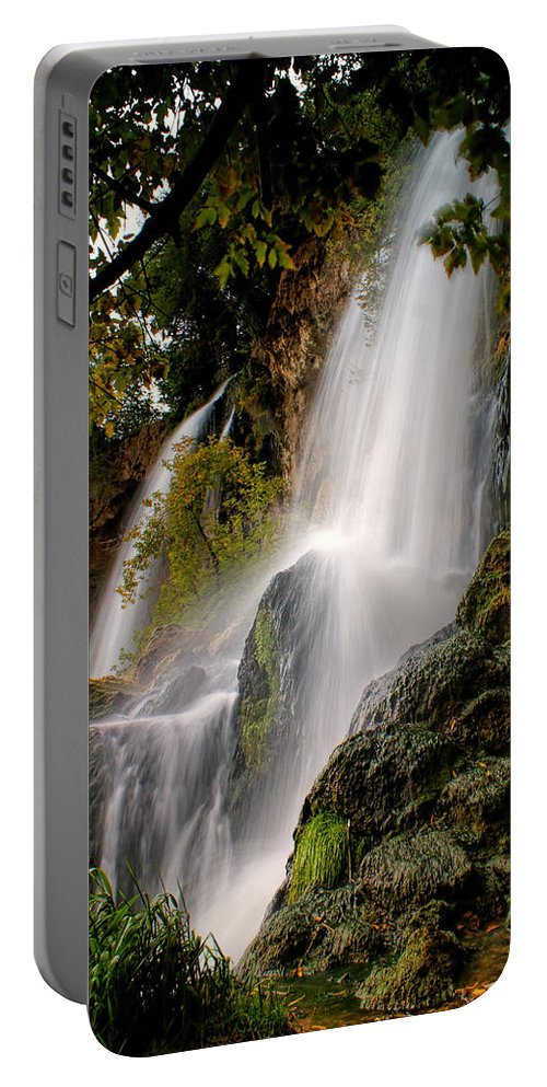 Rifle Falls Portable Battery Charger featuring the photograph Rifle Falls by Priscilla Burgers
