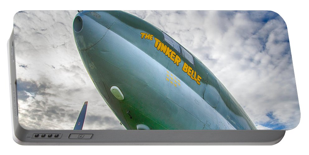Aviation Portable Battery Charger featuring the photograph Right Under Your Nose 3774c by Guy Whiteley