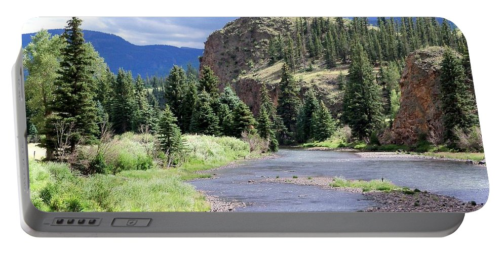 Landscape Portable Battery Charger featuring the photograph Rio Grande River Landscape by Samantha Glaze