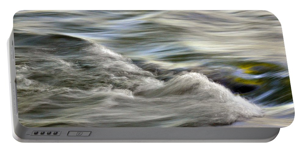 Nature Portable Battery Charger featuring the photograph Rippling Water by Kay Lovingood