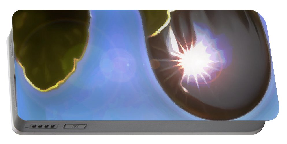 Clear Blue Sky Portable Battery Charger featuring the digital art Rise And Shine From Dullness by Withintensity Touch