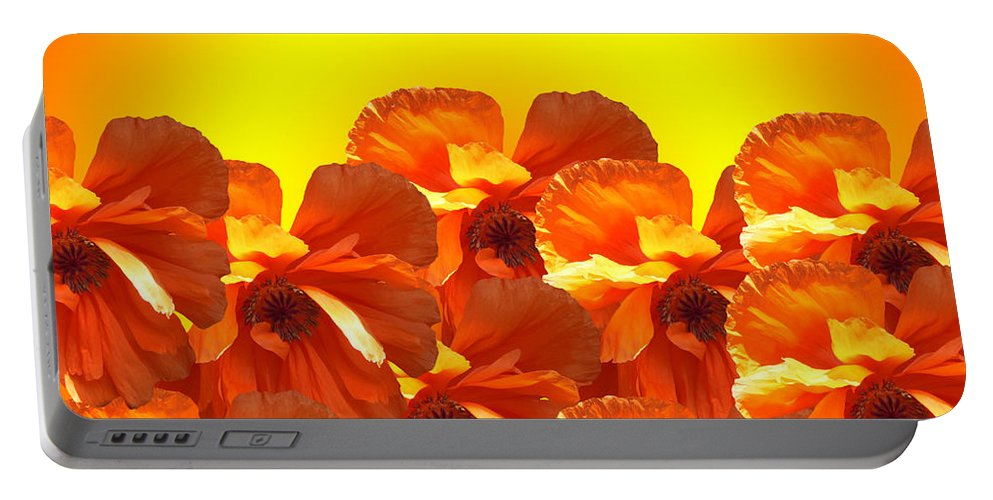 Flowers Portable Battery Charger featuring the digital art Rise And Shine by Robert Orinski