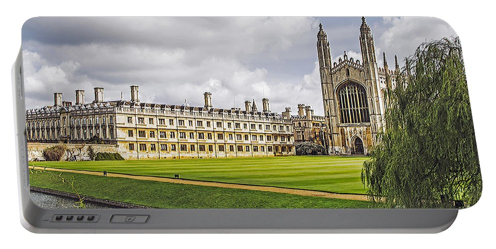Travel Portable Battery Charger featuring the photograph River Cam And King's College Chapel by Elvis Vaughn