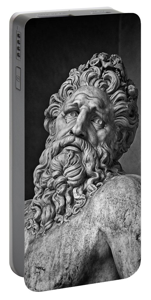 Arno Portable Battery Charger featuring the photograph River God Arno by David Pringle