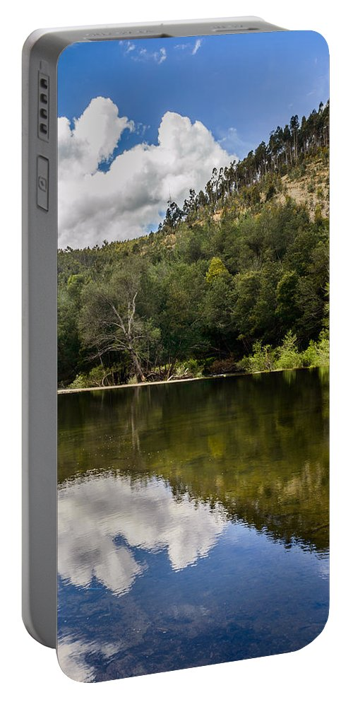 River Portable Battery Charger featuring the photograph River Reflections I by Marco Oliveira