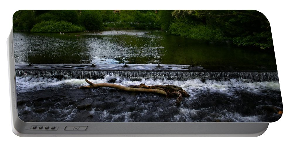 Bakewell Portable Battery Charger featuring the photograph River Wye - In Peak District - England by Doc Braham