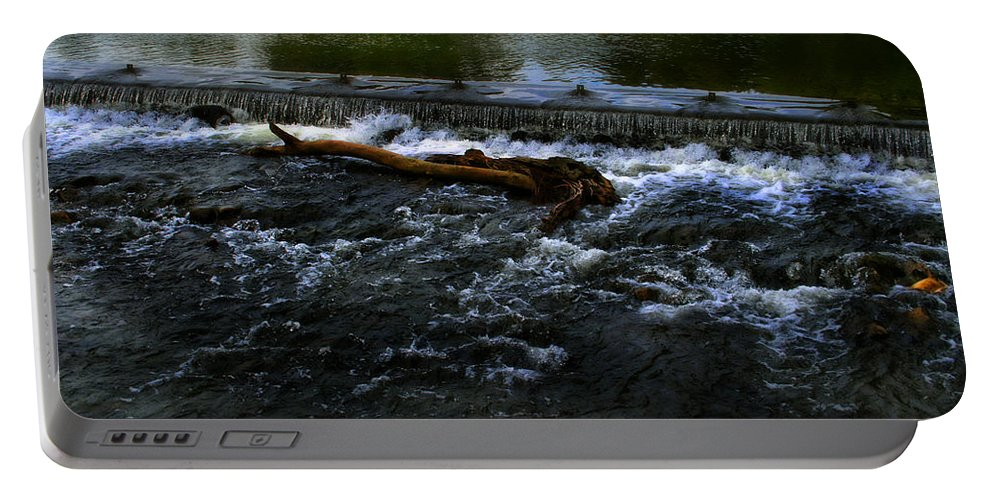 Bakewell Portable Battery Charger featuring the photograph River Wye - Town Peak District - England by Doc Braham