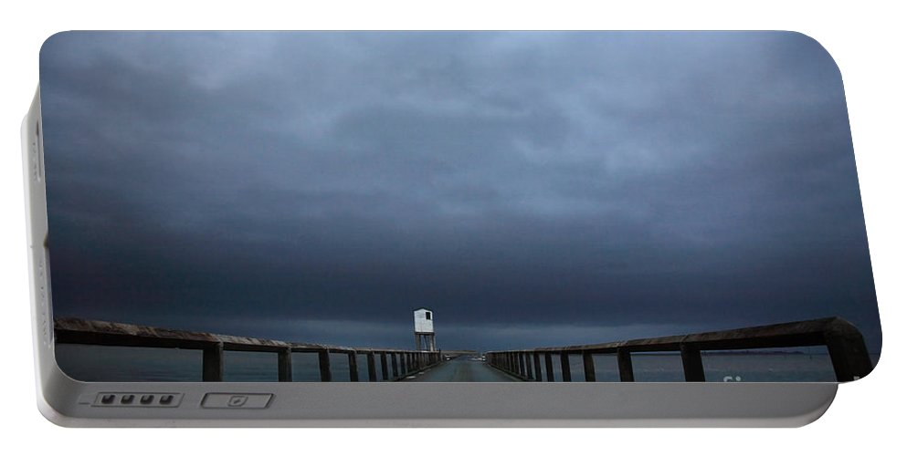 Barrier Portable Battery Charger featuring the photograph Road To Lindisfarne by Deborah Benbrook