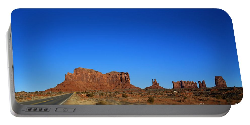 Monument Valley Portable Battery Charger featuring the photograph Road To Monument Valley V2 by Douglas Barnard