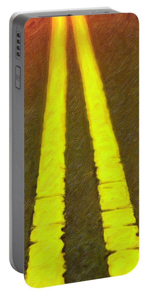 Road Portable Battery Charger featuring the photograph Road To Taos by Terry Fiala