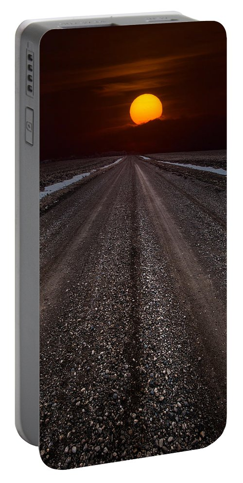 Sun Portable Battery Charger featuring the photograph Road To The Sun by Aaron J Groen