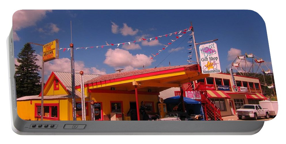 Roadside Attractions Portable Battery Charger featuring the photograph Roadside Near Deadwood South Dakota by John Malone