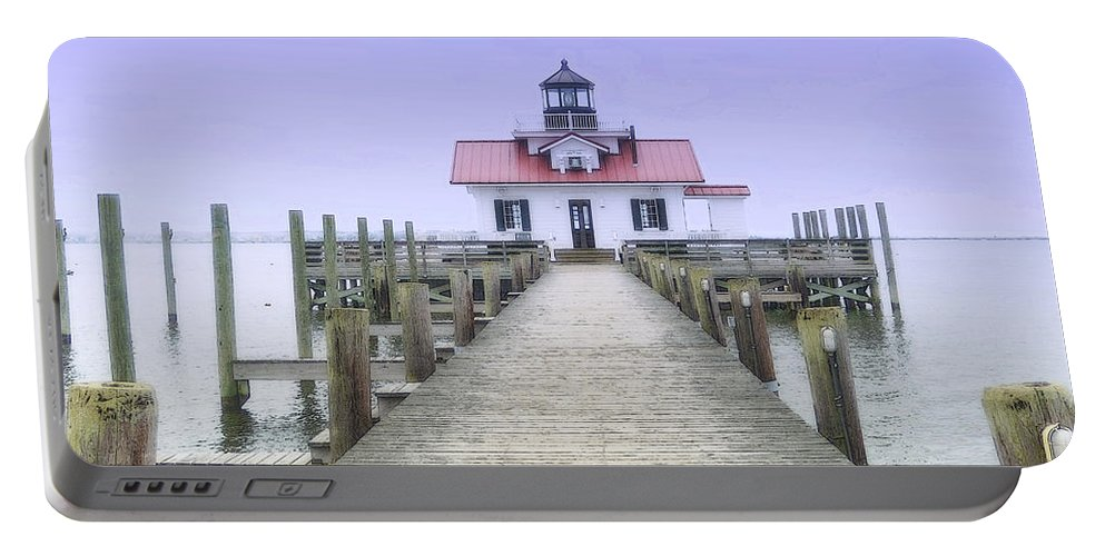 Light Portable Battery Charger featuring the photograph Roanoke Marshes Light by Lydia Holly
