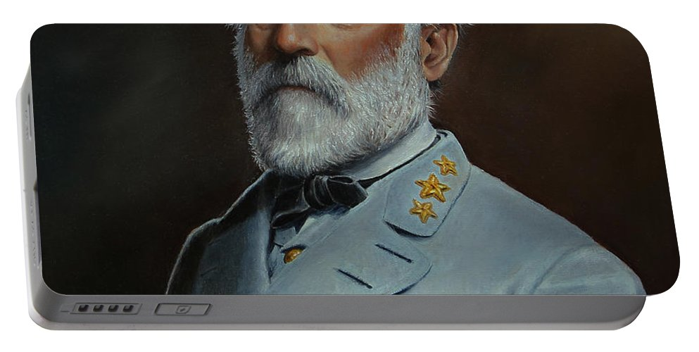 Portrait Portable Battery Charger featuring the painting Robert E. Lee by Glenn Beasley