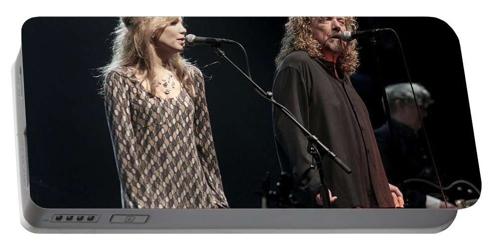 Robert Plant Portable Battery Charger featuring the photograph Robert Plant And Alison Kraus by Concert Photos