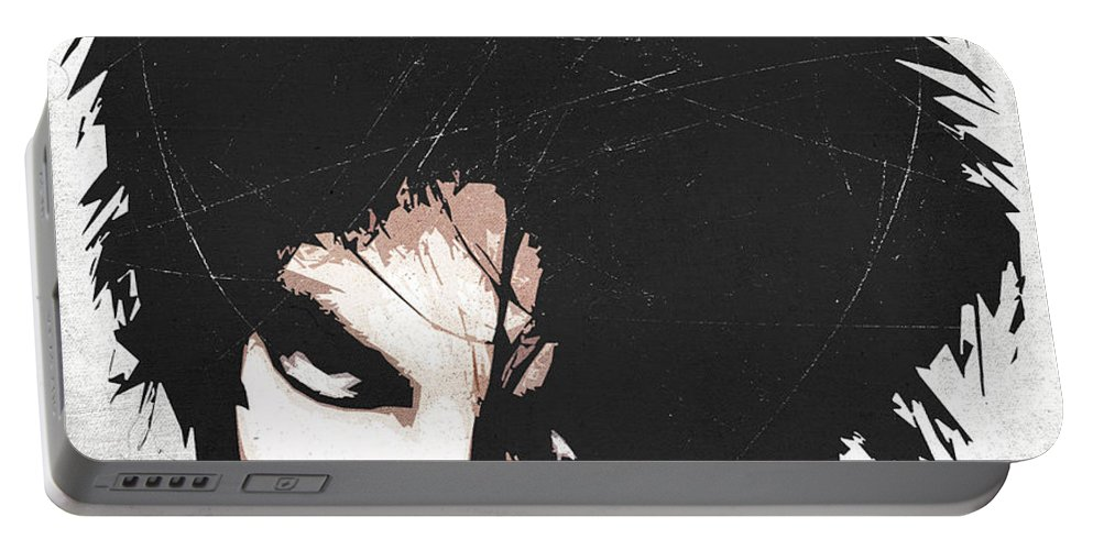 Robert Portable Battery Charger featuring the digital art Robert Smith by Filippo B