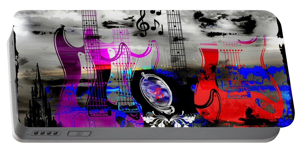 Rock Portable Battery Charger featuring the digital art Rock And Roll Fantasy by Michael Damiani