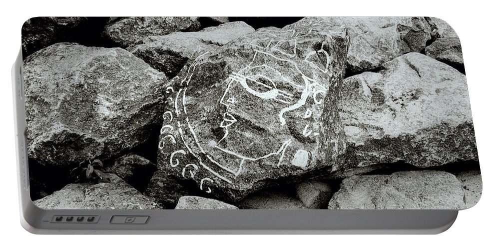 Rock Portable Battery Charger featuring the photograph Rock Art by Shaun Higson