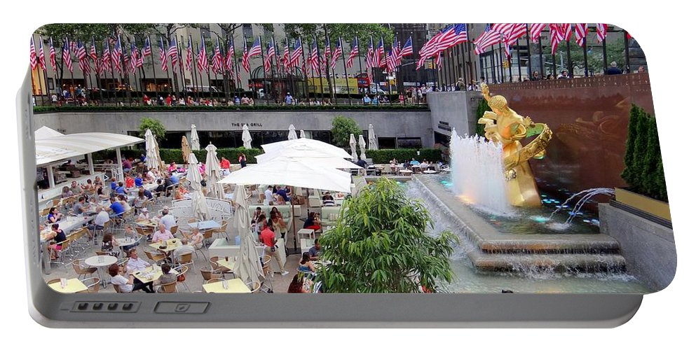 Rockefeller Center Portable Battery Charger featuring the photograph Rock Center Fourth by Ed Weidman